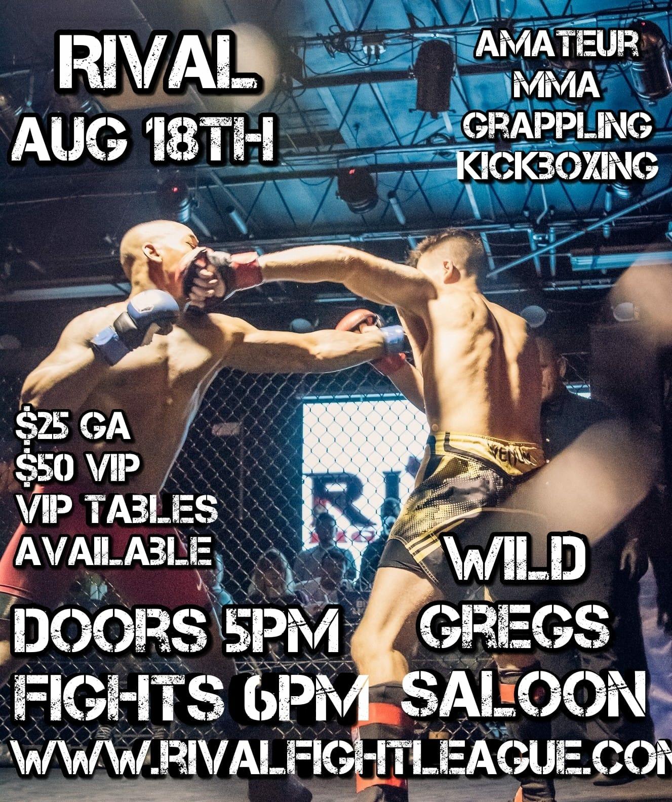 Rival Fight League - Amateur MT @ Wild Greg's Saloon